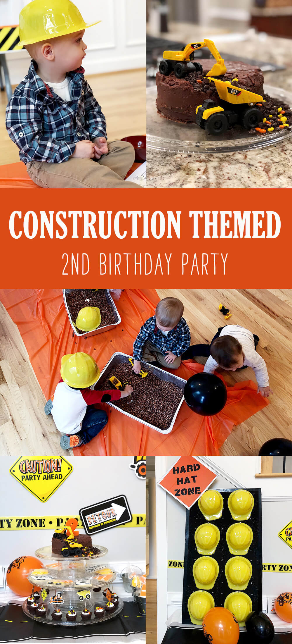 Construction birthday party for a 2nd birthday