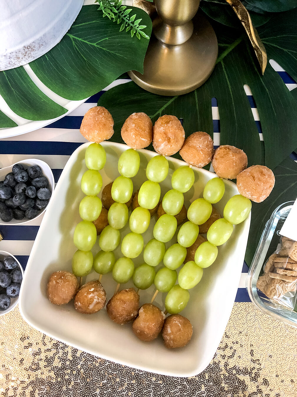 Gorilla sticks make a great treat at a glam safari baby shower