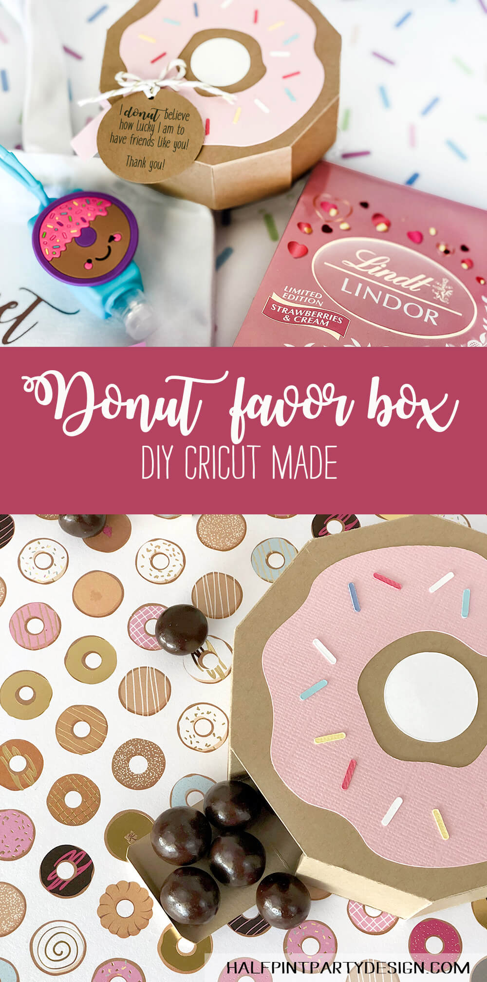 Donut party favor box for a sweet treat