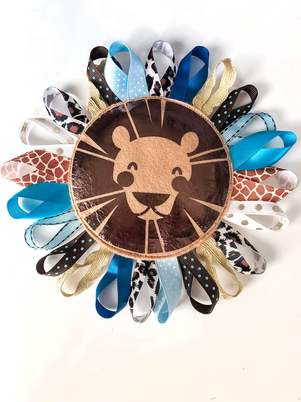 Finished Lion Baby Tag Toy DIY