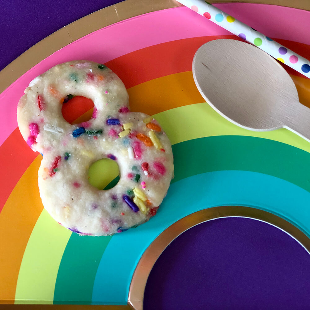 Sprinkle sugar cookie 8 on rainbow plate for over the rainbow party