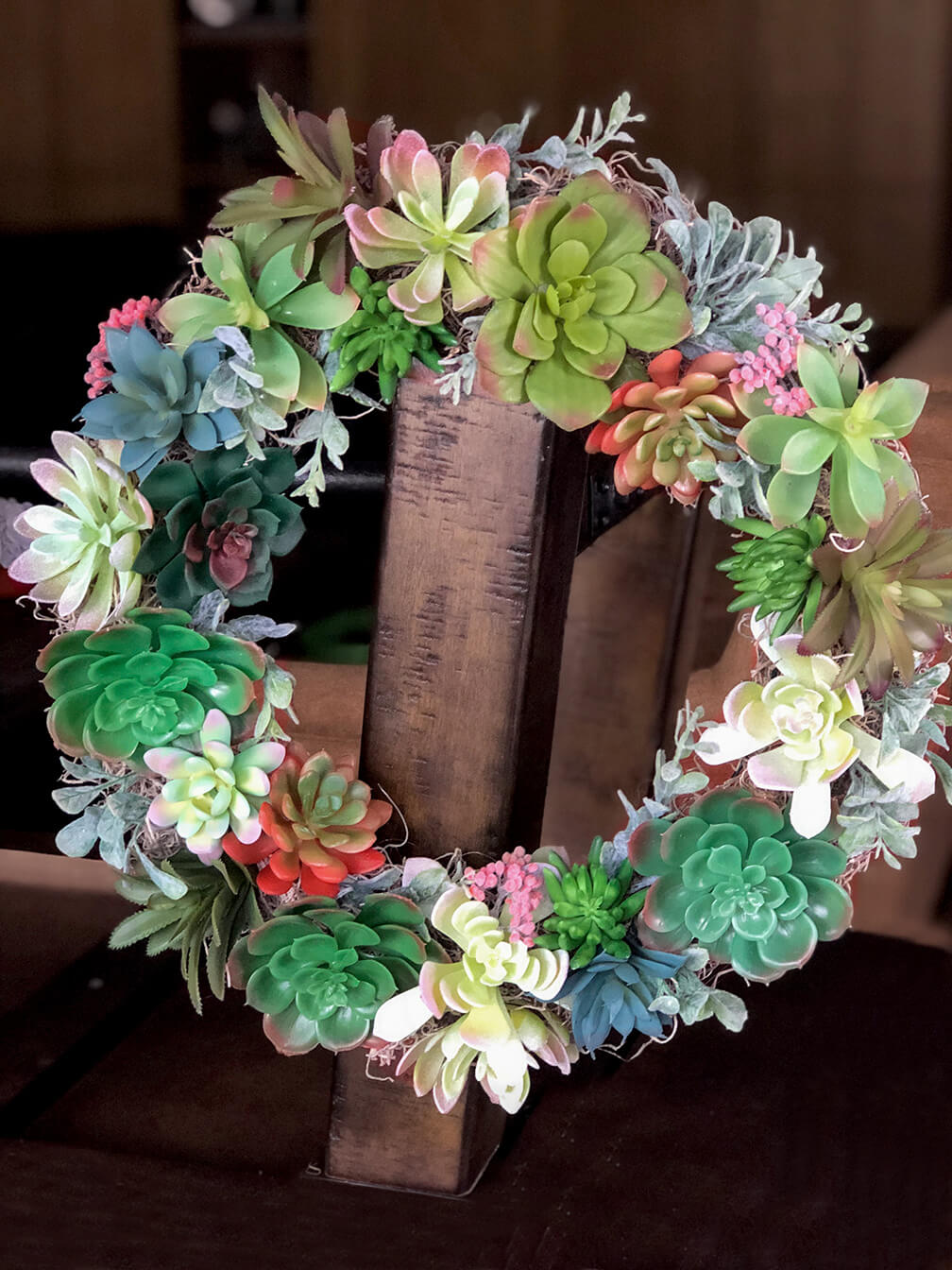 Succulent wreath tutorial made from Dollar store supplies