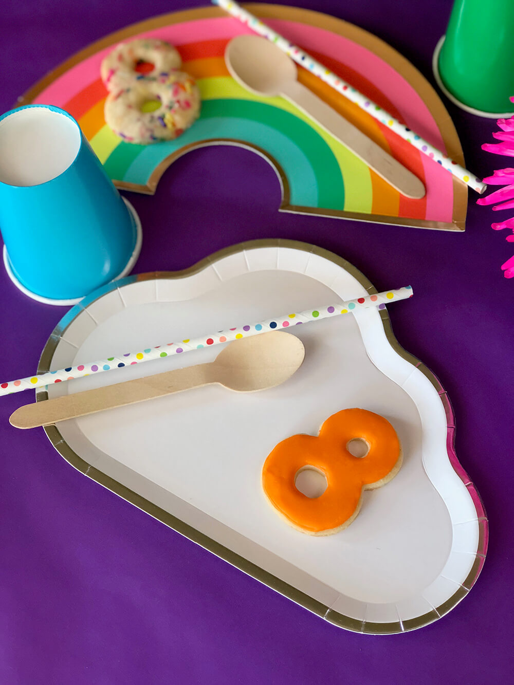Cloud plate for over the rainbow party