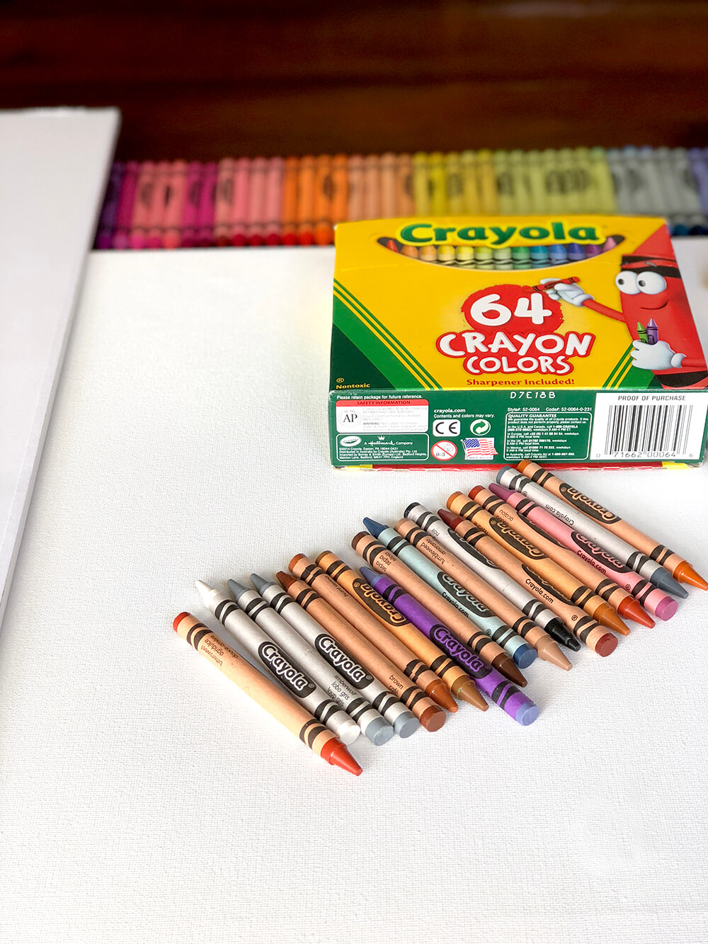 Left over crayons from Melted crayon art rainbow