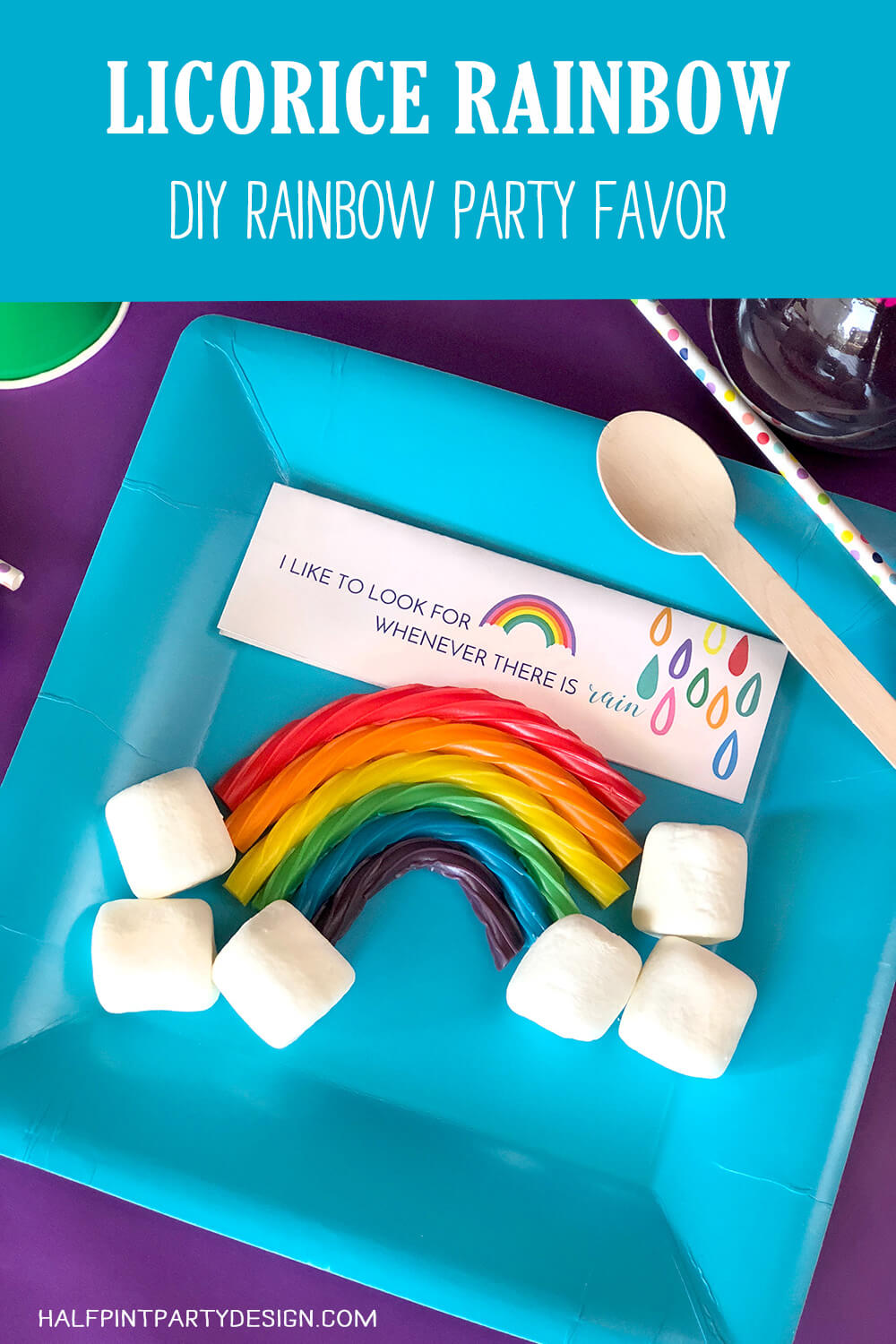 Simple DIY Candy Licorice Rainbow Party Favor