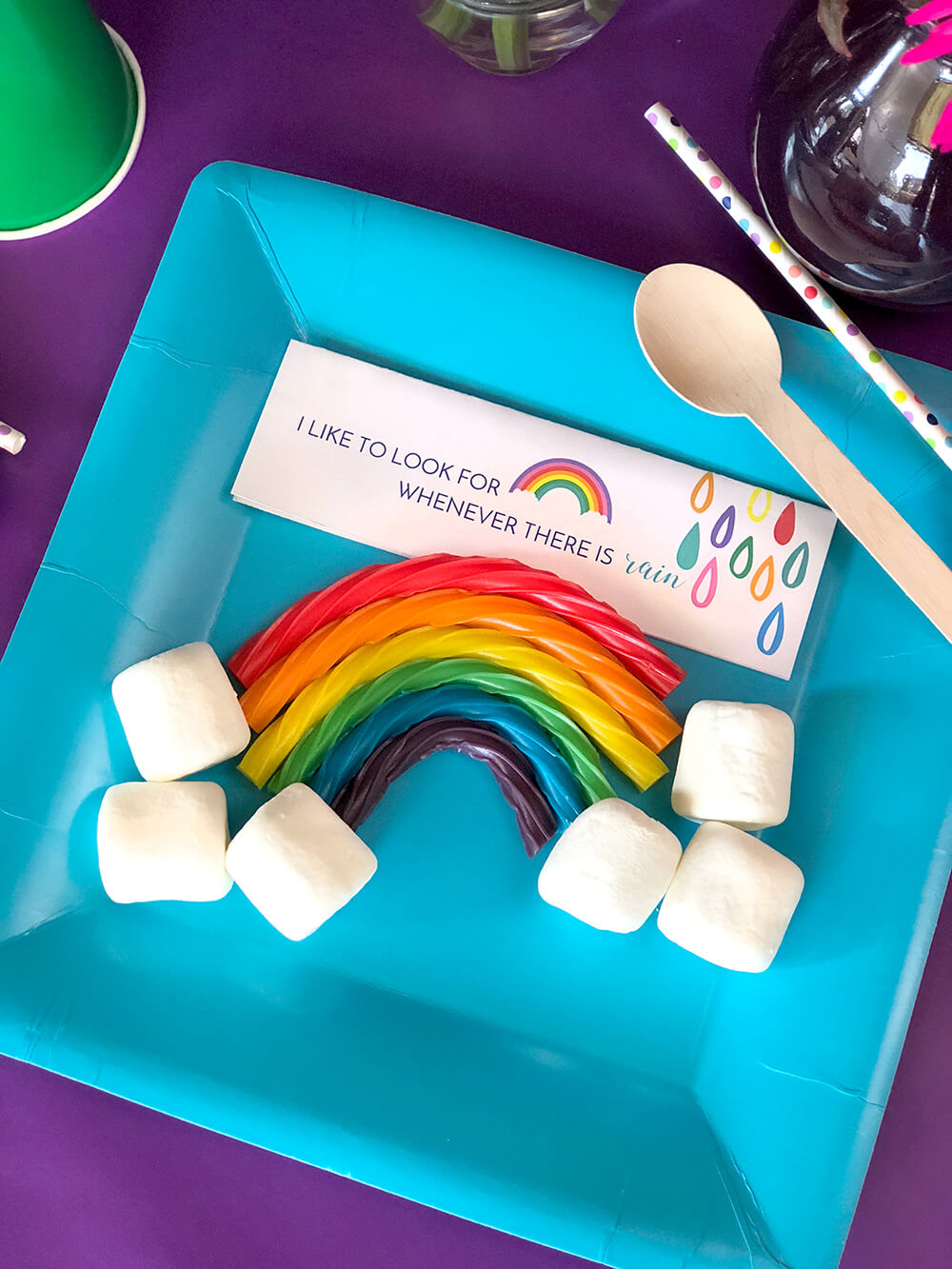 Candy rainbow for girls rainbow themed LDS baptism party favor