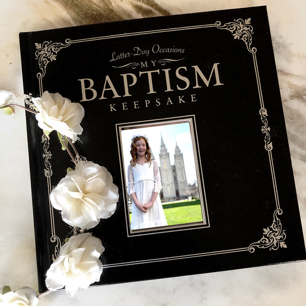 Baptism memory book for Rainbow themed LDS baptism