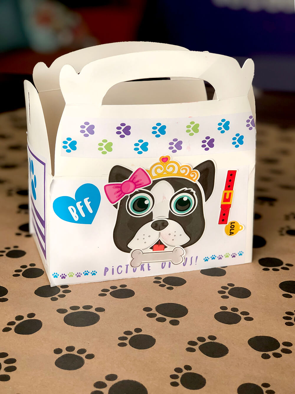 Decorated dog house - Puppy party activity ideas for kids