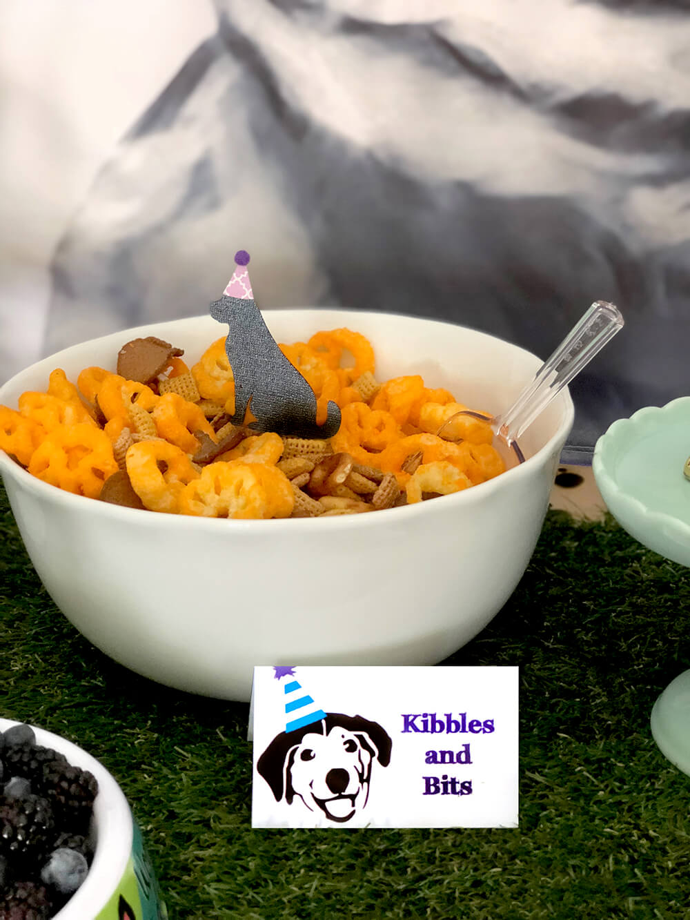 Kibbles and Bits party snacks - Puppy Themed Birthday Party Food Ideas