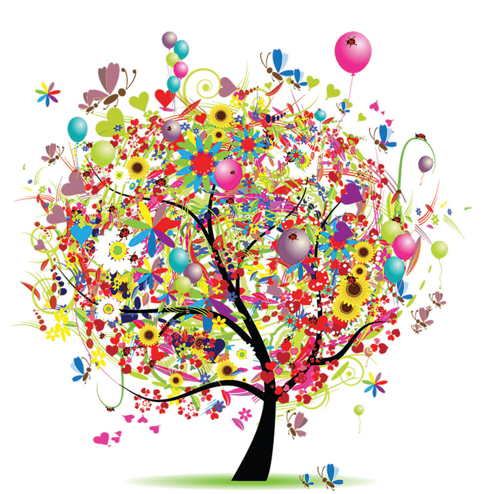 Colorful Party tree for Parties With A Cause