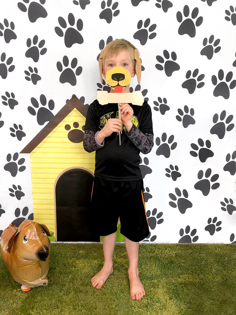Puppy backdrop photo booth - Dog Themed Puppy Birthday Party Ideas
