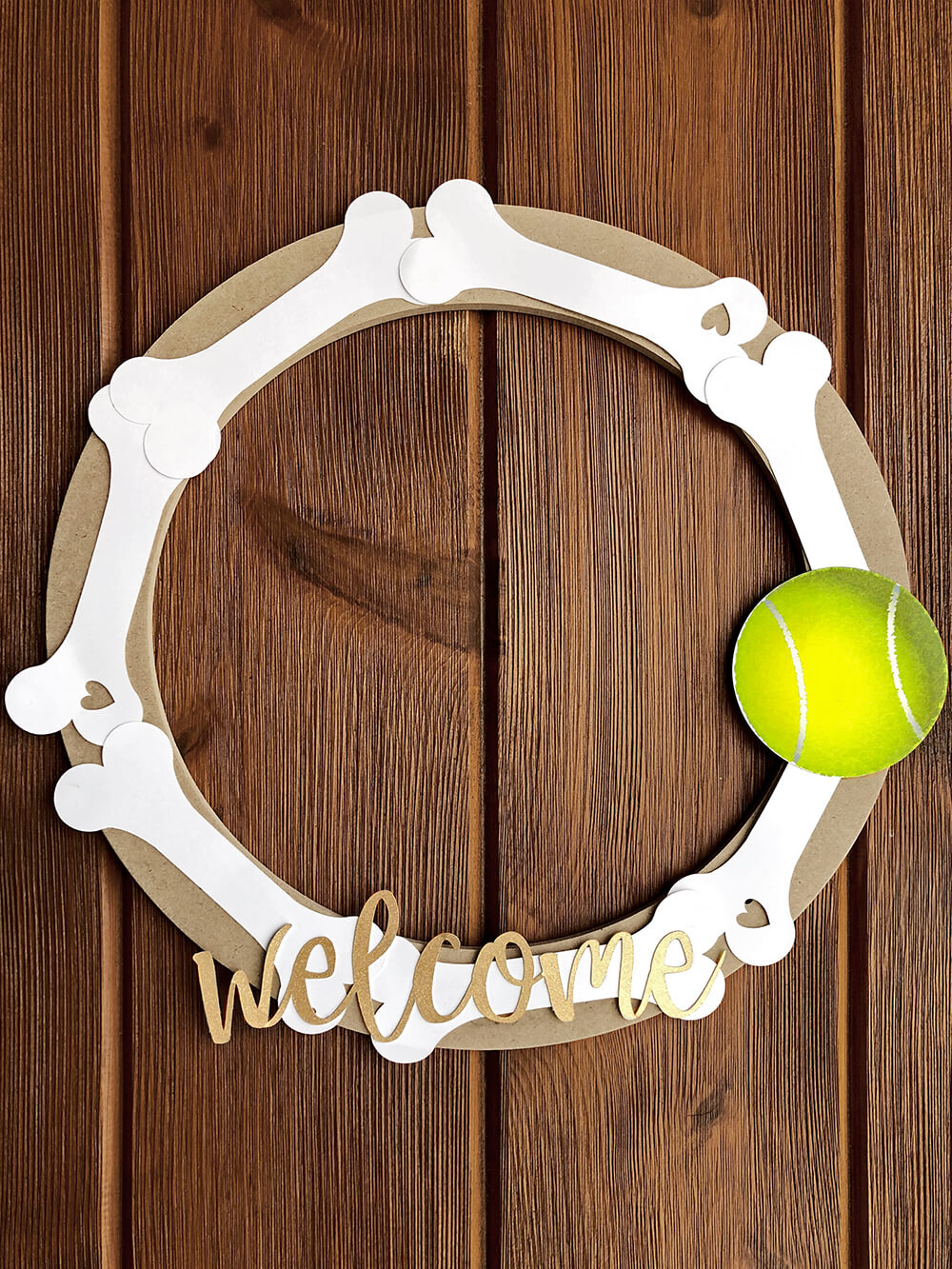 Welcome Door wreath - Dog Themed Puppy Birthday Party Ideas