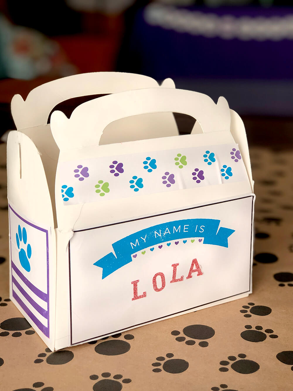 Favor box - Puppy party activity ideas for kids