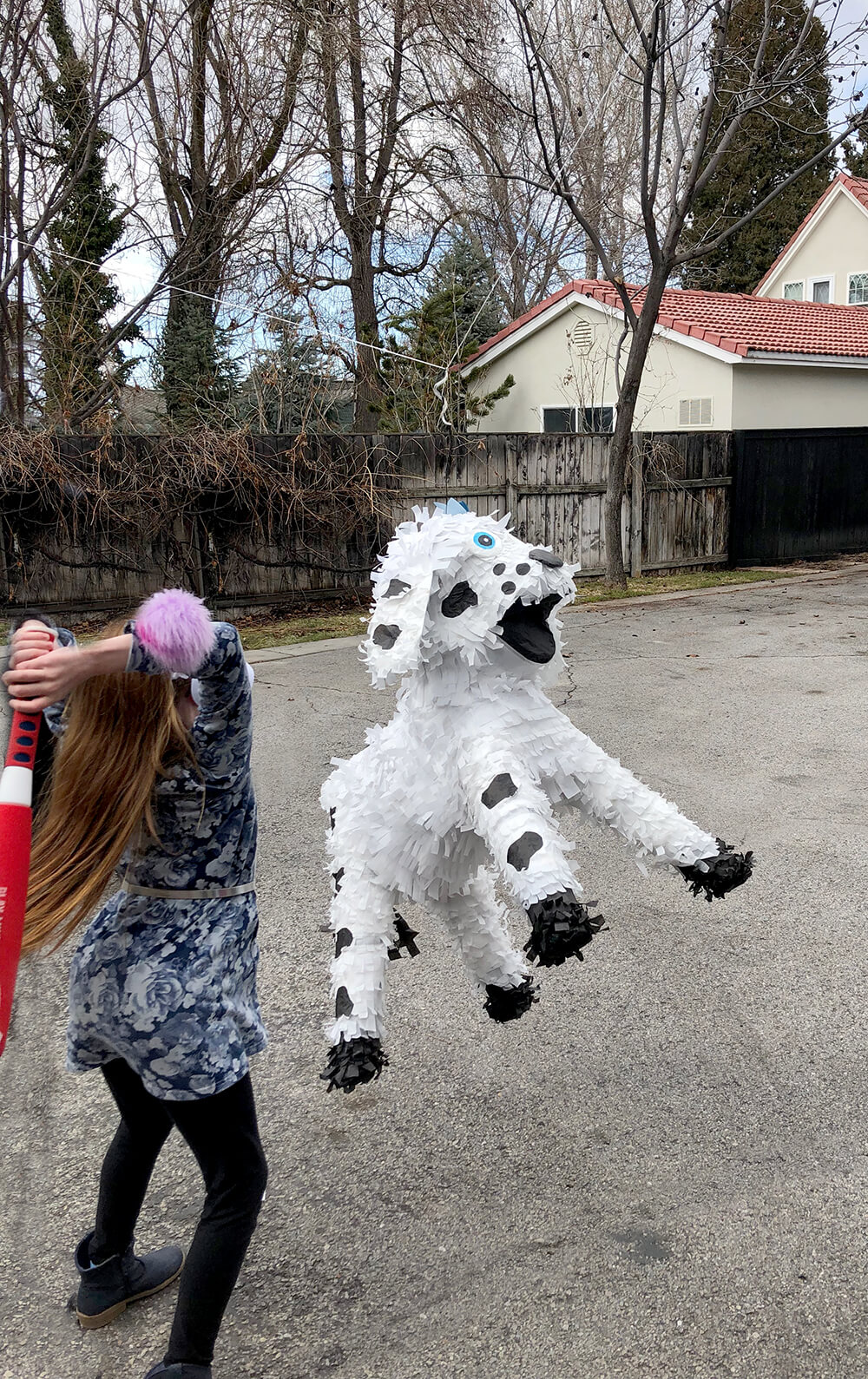Dalmatian piñata Puppy party activity ideas for kids