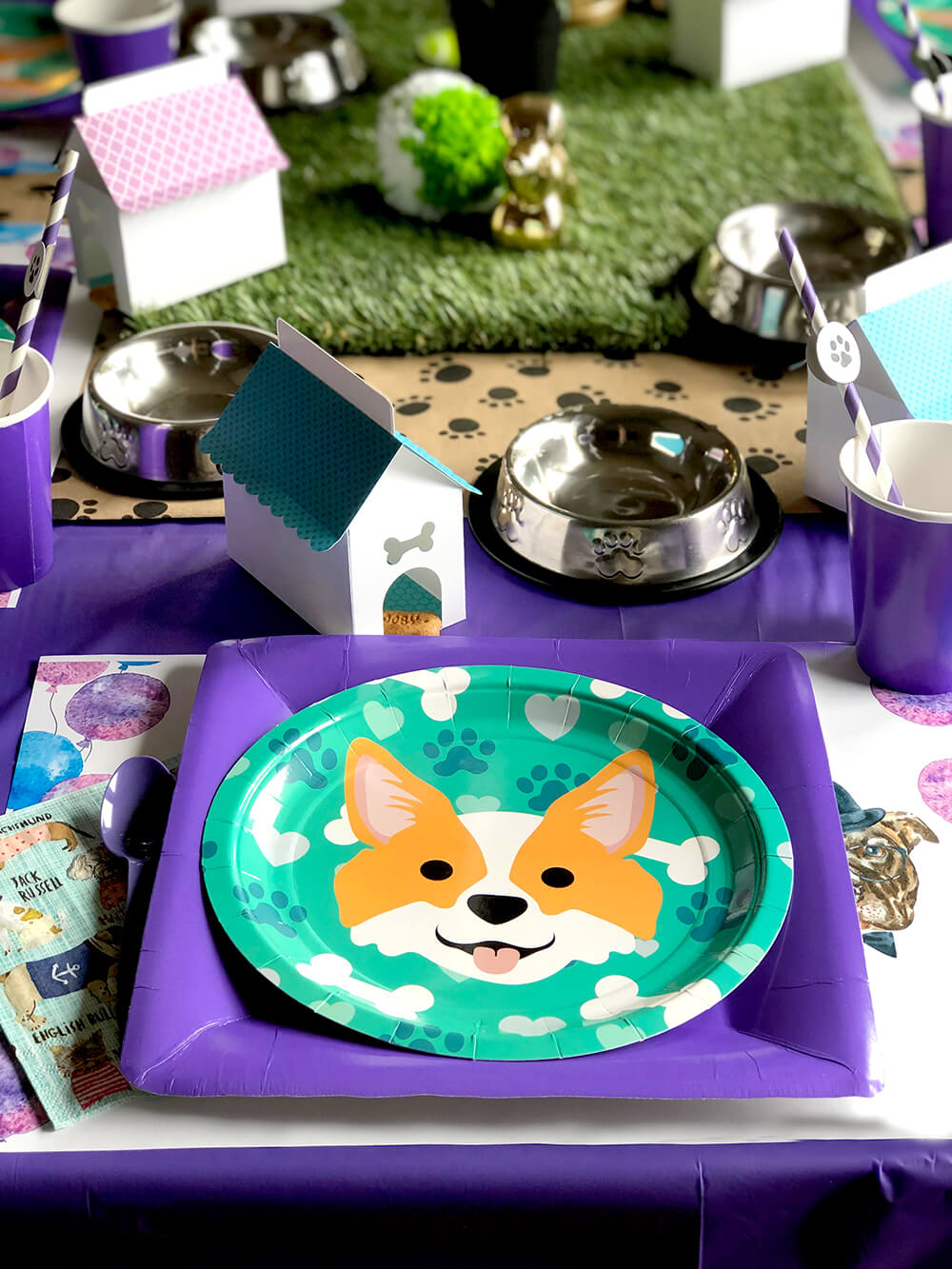 Puppy place setting - Dog Themed Puppy Birthday Party Ideas