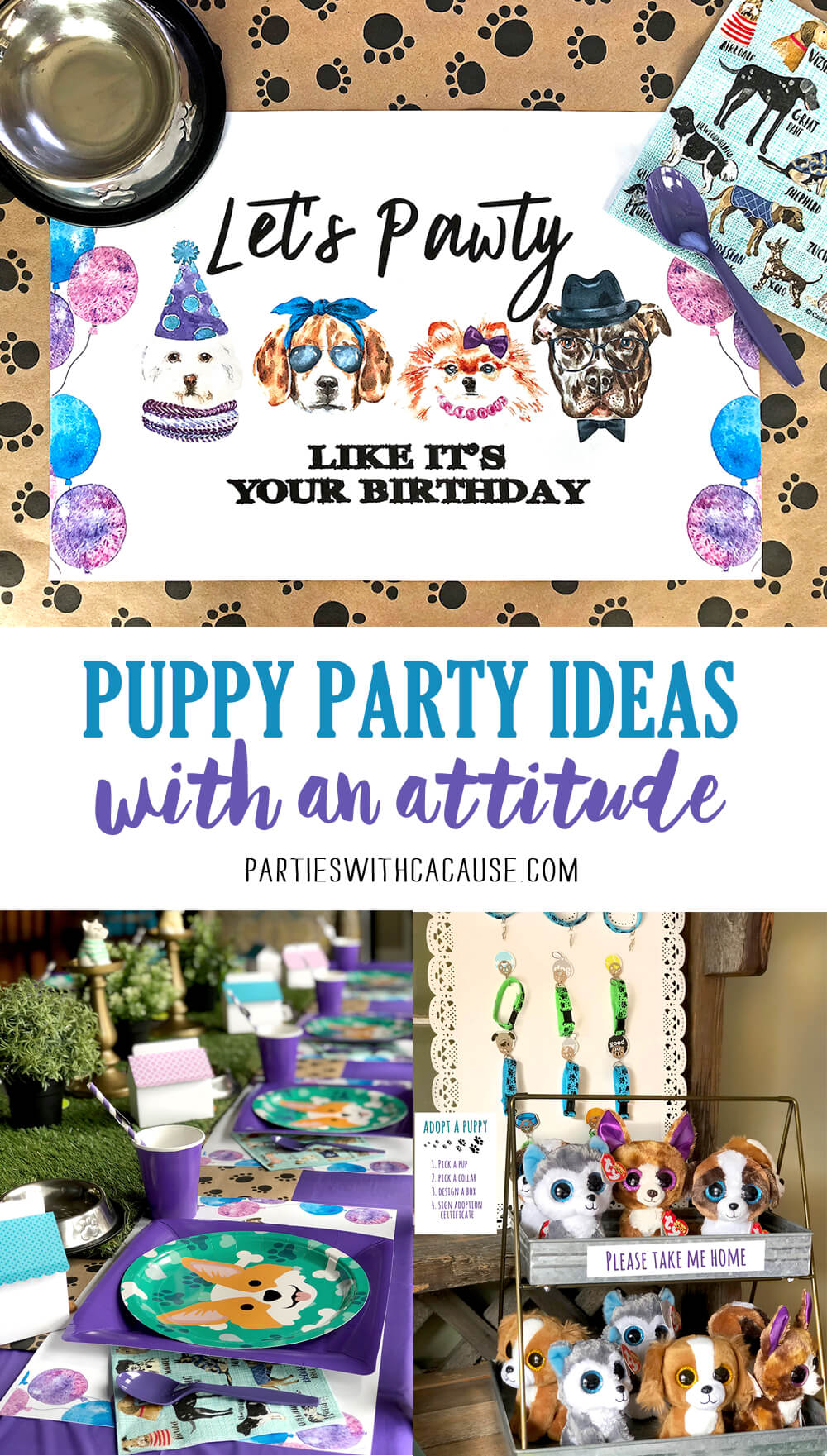 Dog Themed Puppy Birthday Party Ideas with attitude