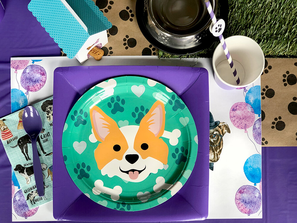 Corgi plate - Dog Themed Puppy Birthday Party Ideas