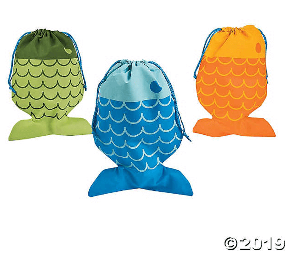 Fish party favor bags - Birthday piñata filler ideas other than candy
