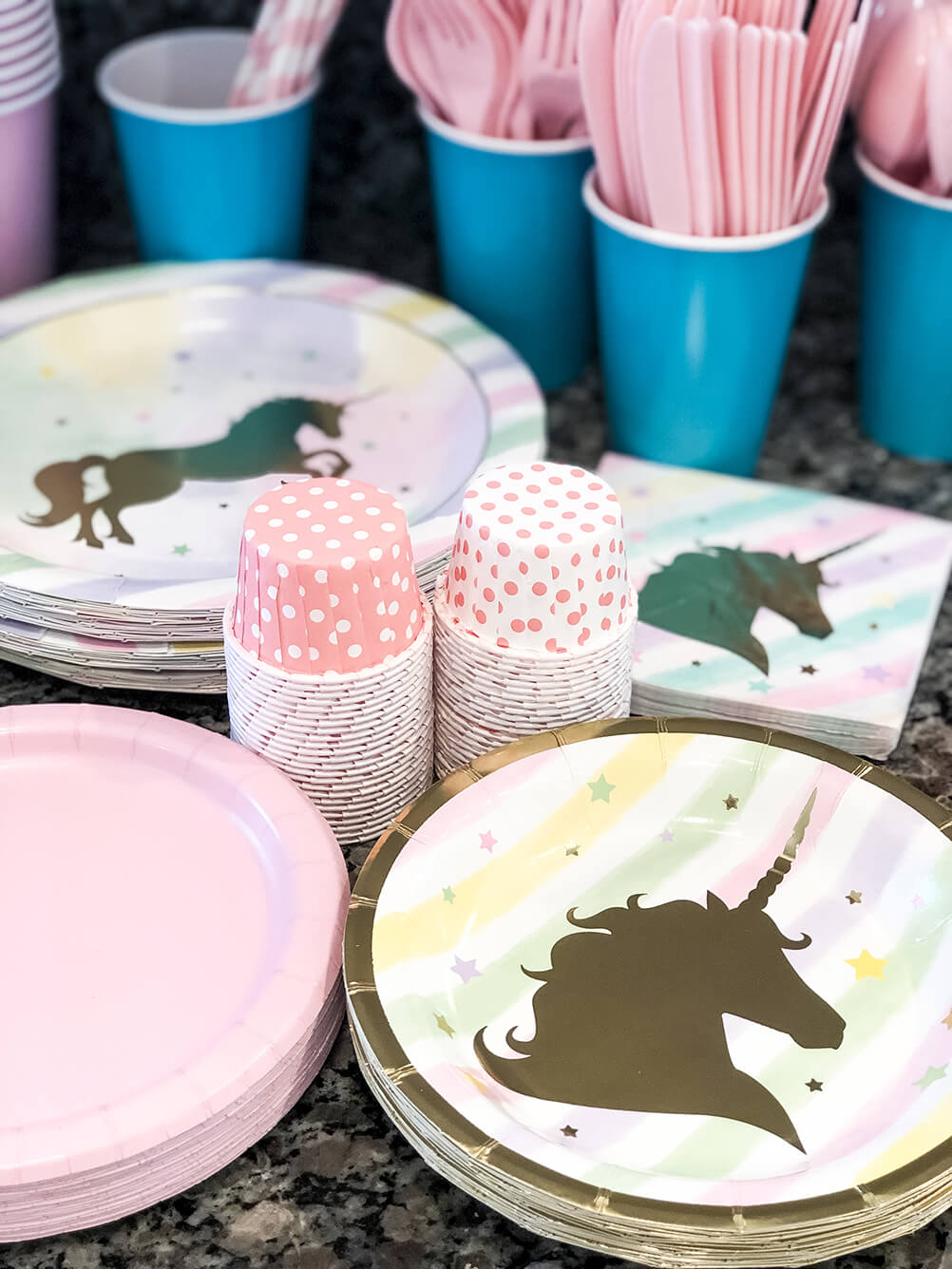 Party goods Unicorn themed birthday party ideas