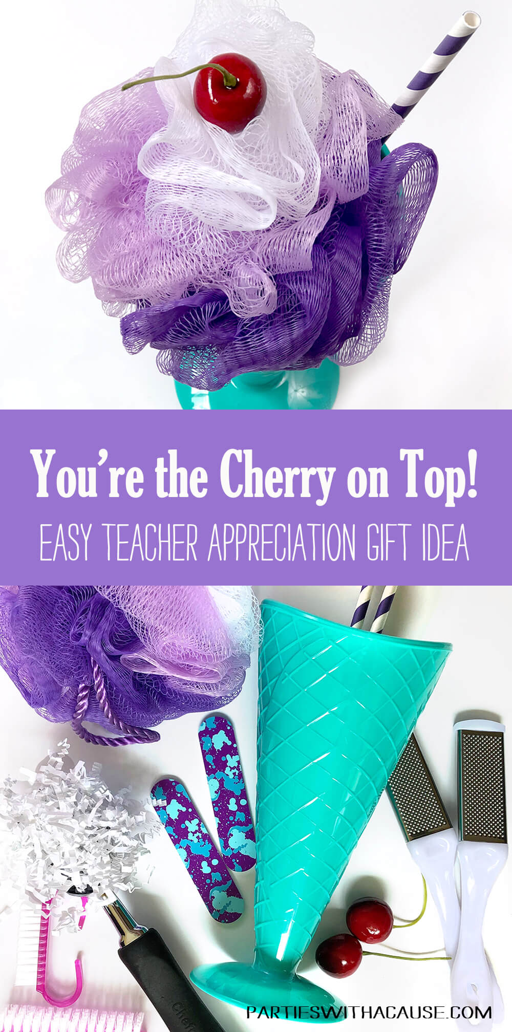 Cherry On Top Thank you Tag for an inexpensive teacher appreciation gift