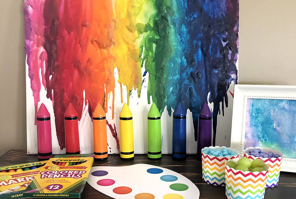 Melted Crayon Art Rainbow Tutorial