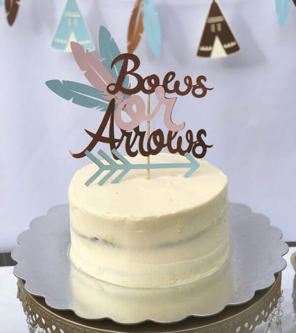 Bows or Arrows Gender Reveal Party ideas