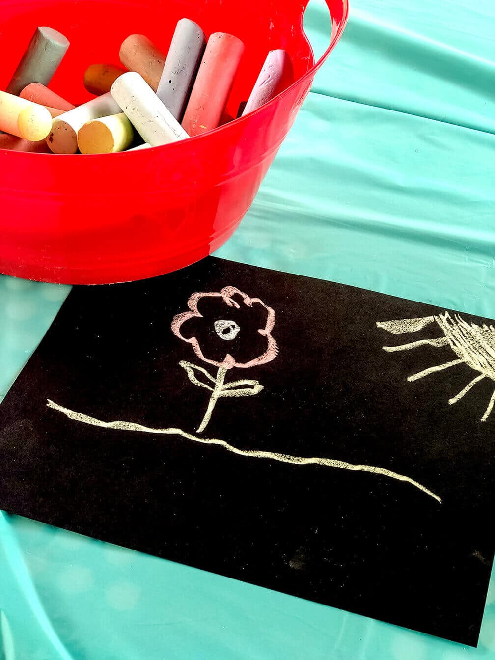 Sidewalk chalk art Mary Poppins Party Idea
