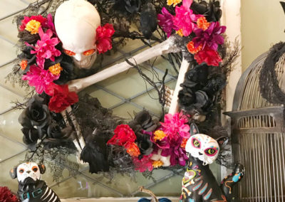Day of the Dead Holiday Wreath Transformation