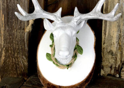 DIY Mounted Deer Head Ornament