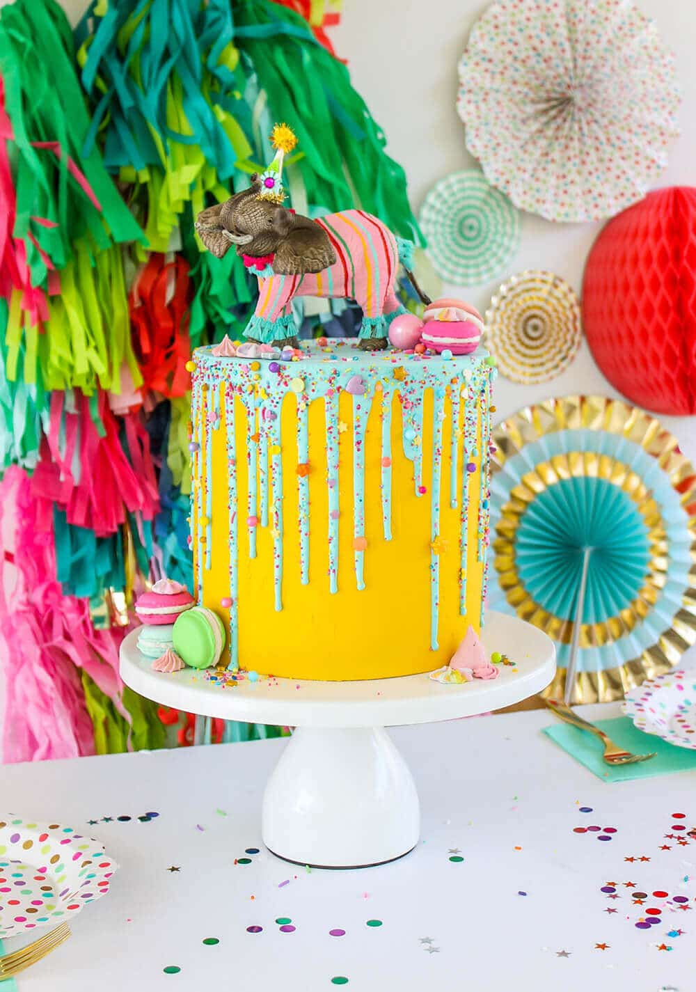 A faux cake is a great way to add fun without the sugar! Healthy Party Foods for Kids