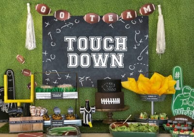 Football Party Decor Big Game Kick Off