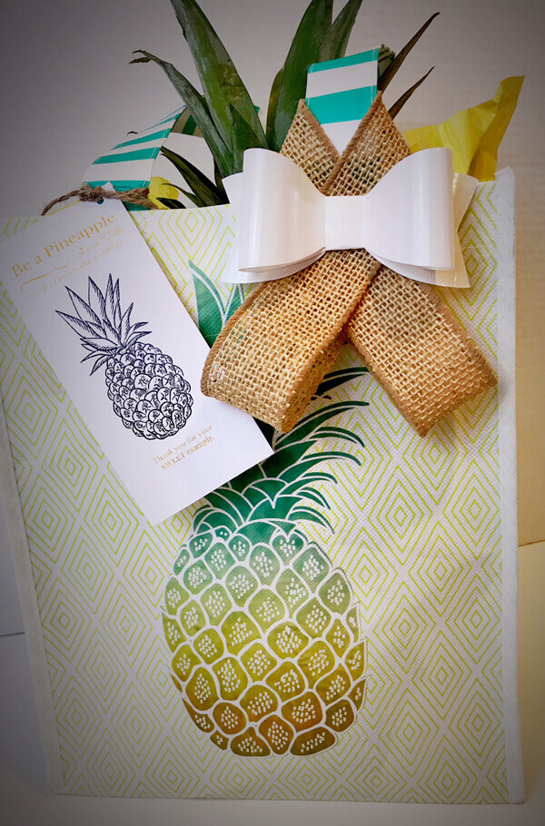 """This is a great end of the year teacher thank you gift idea that will get them ready for a vacation in the tropics. Say thank you to all those who have been a """"sweet"""" example to your children this year."""
