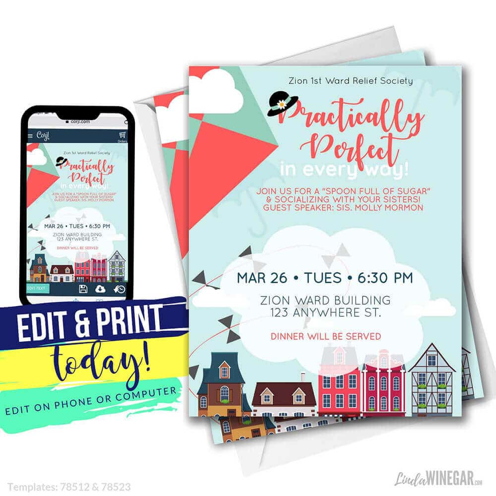 Invitations for Mary Poppins Party Idea