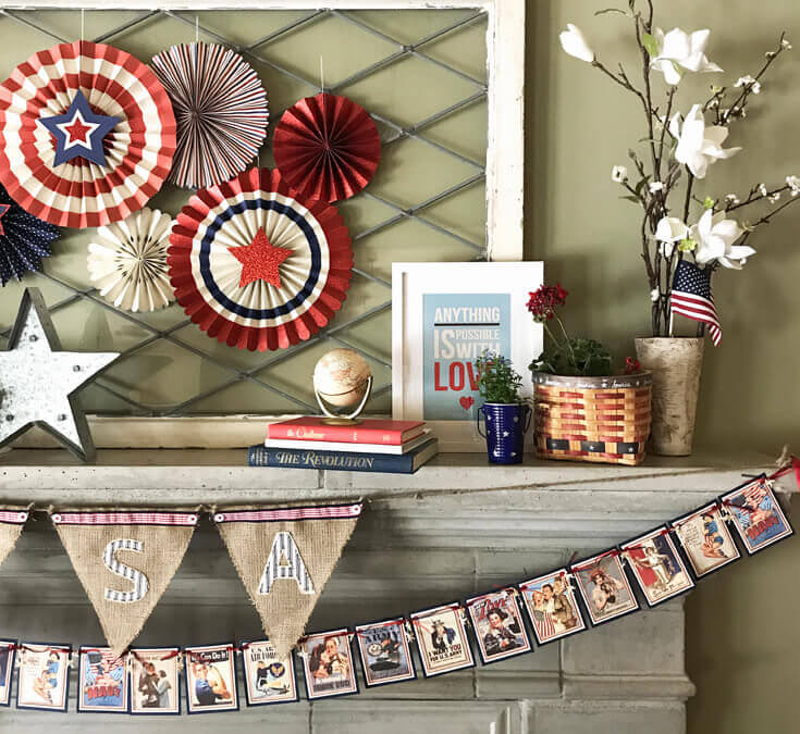 Patriotic Mantel Decor Ideas