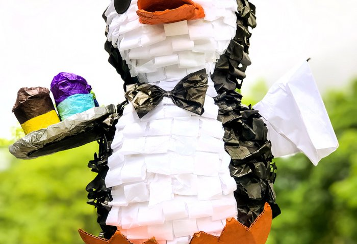 Penguin piñata Mary Poppins Party Idea
