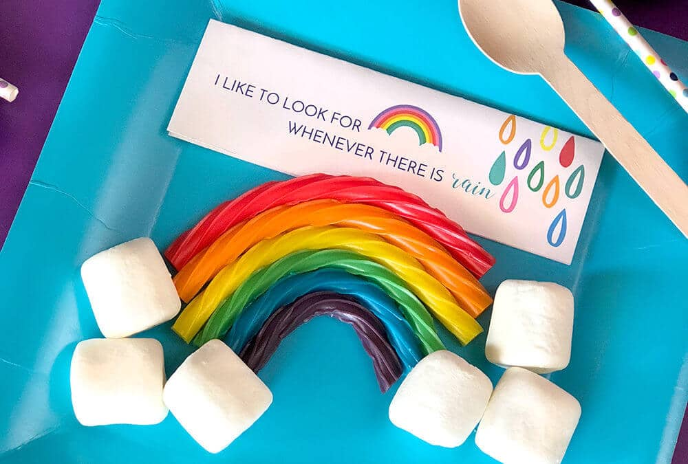 DIY Candy Licorice Rainbow Party Favors