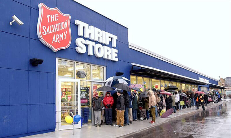 Salvation Army a non-Profit Thrift Store Comparisons