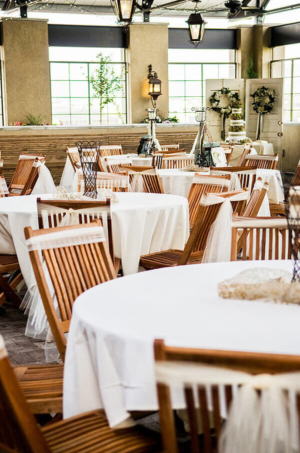 Halfpint Design - Places like Noah's Event Venue provide beautifully designed spaces that include tables, chairs, and linens. They will also help connect you with any other event vendors you might need.