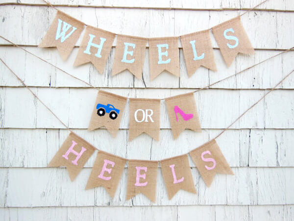Wheels or Heels Gender Reveal Party Ideas