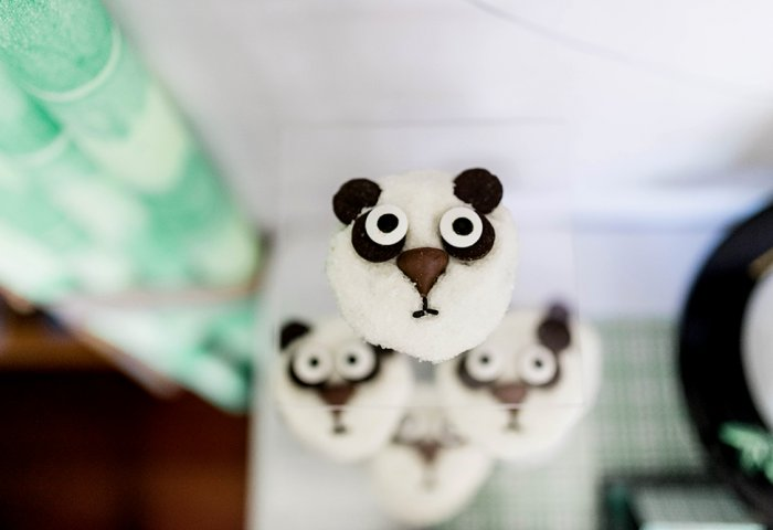 Panda party cupcake display tower