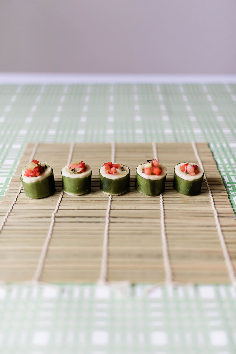 Finished fruit sushi for Simple Fruit Sushi Tutorial