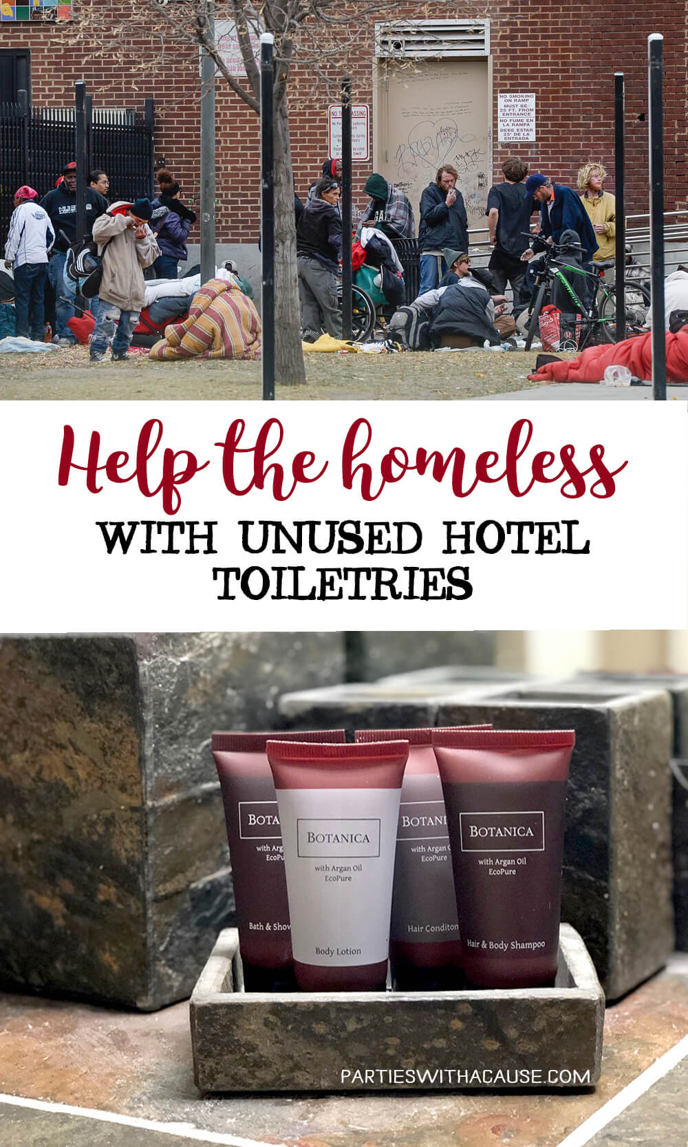 Help the homeless with unused hotel toiletries