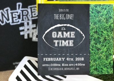 Football Party Birthday, Playoffs or Super Bowl Invitation
