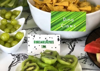 Dinosaur Party Food Tent Cards