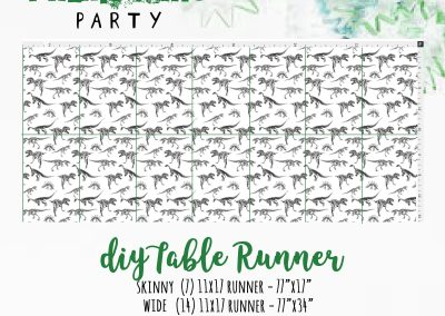 Dinosaur Fossil DIY Table Runner