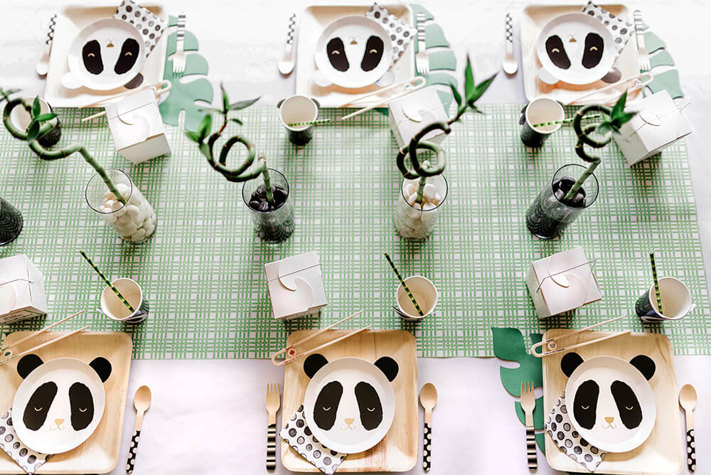 Party Like a Panda tablescape from top