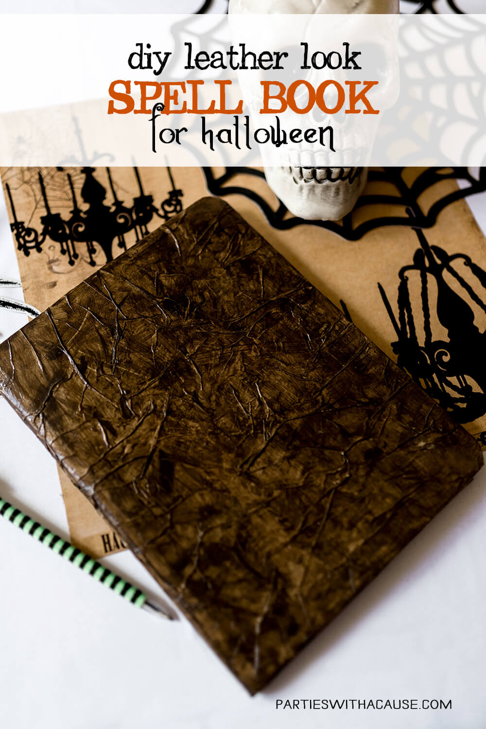 Faux Leather Paper Spell Book tutorial
