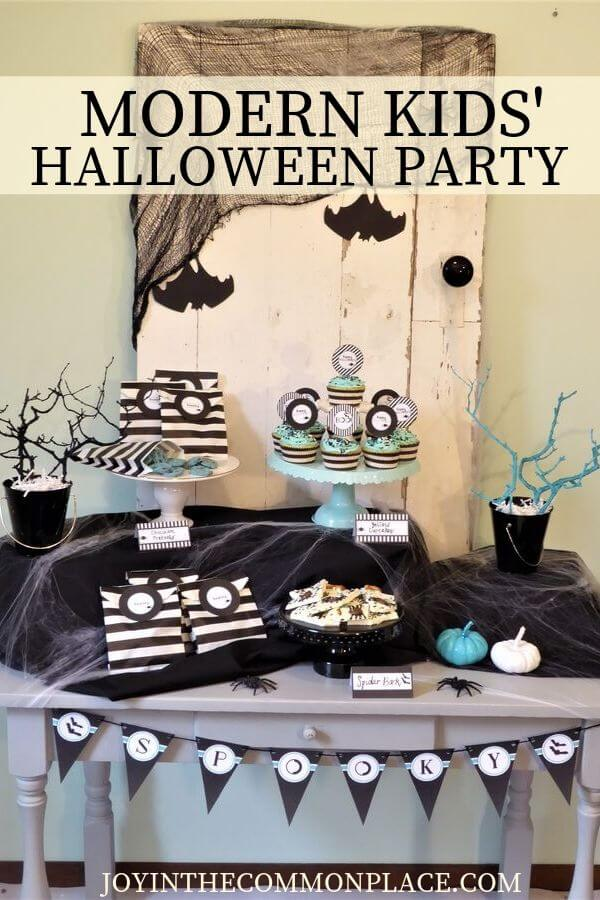 Modern kids halloween party
