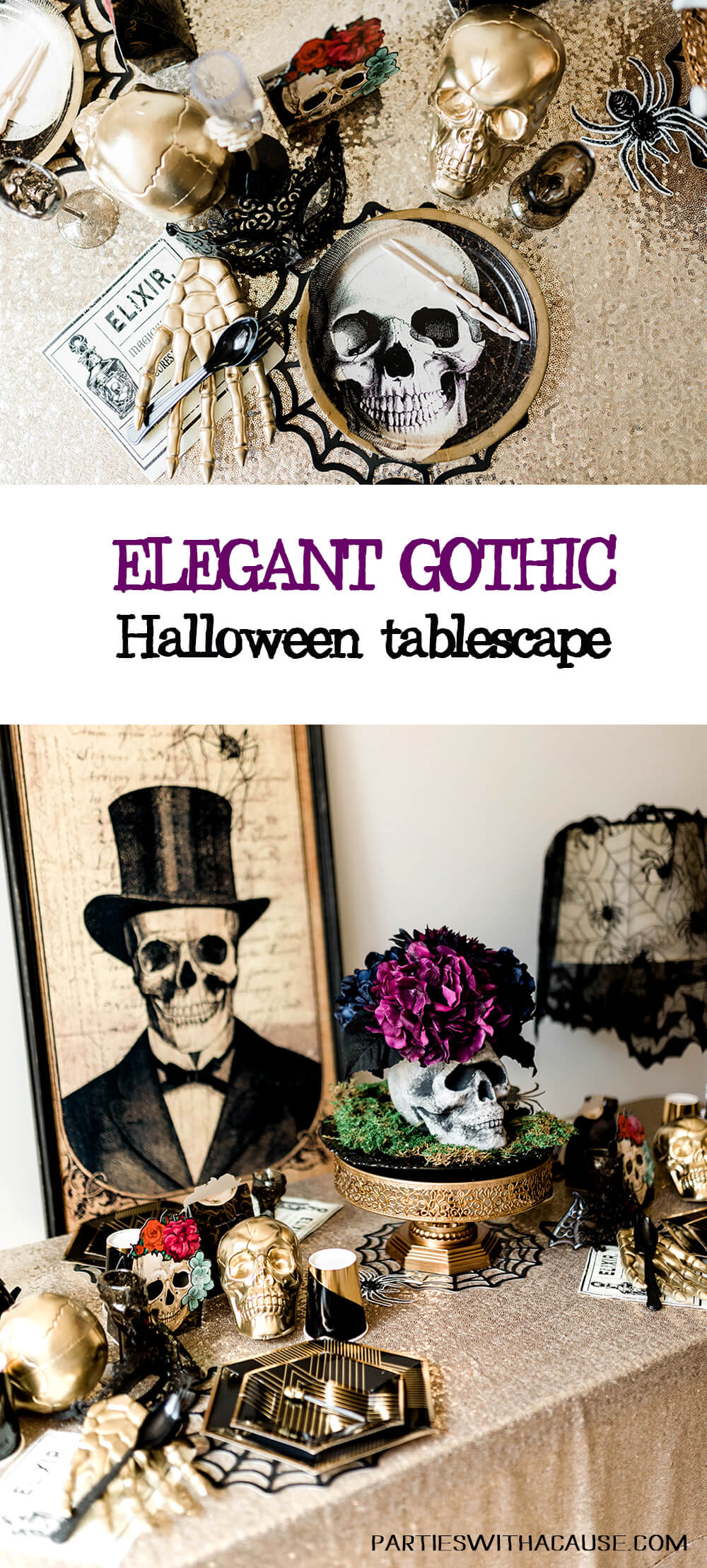 Gothic Halloween Tablescape