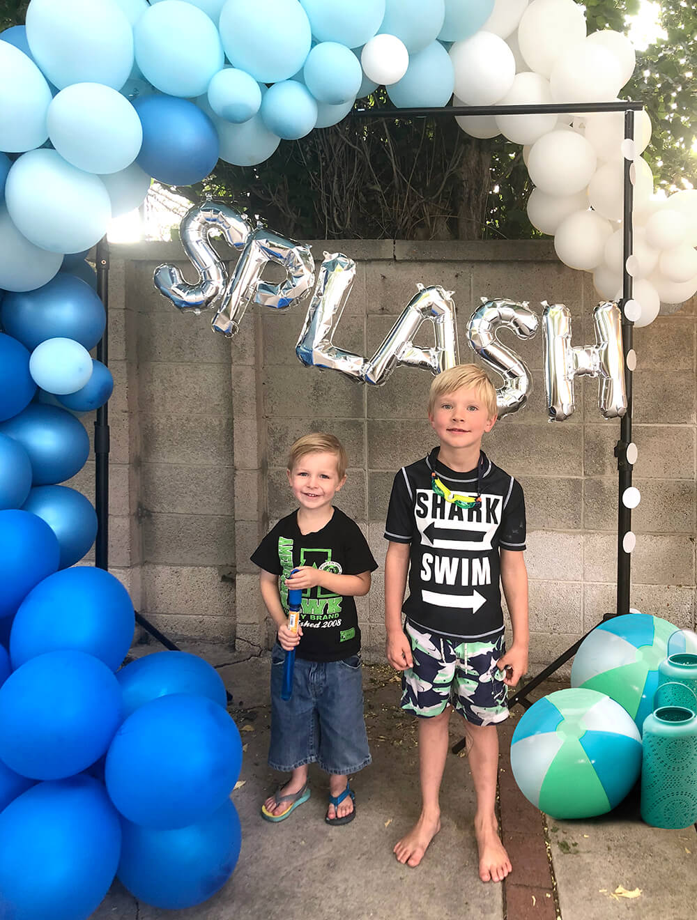 Make a Splash pool party backdrop